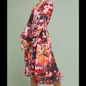 Anthropologie Maeve Printed Midi Dress